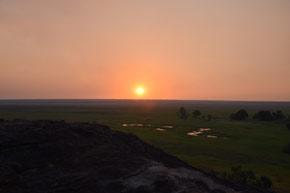 Sonnenuntergang am Nadab Lookout