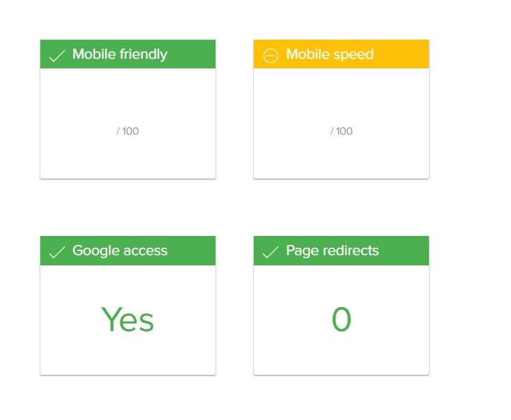 Varvy Mobile SEO - Testergebnis