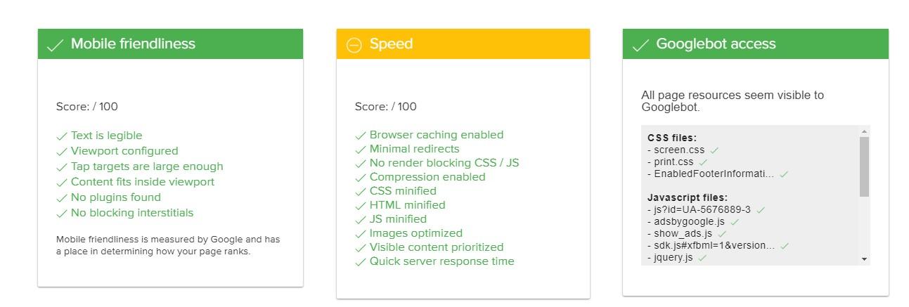 Varvy Mobile SEO - ausführliches Testergebnis